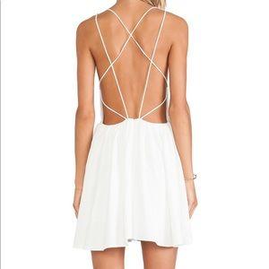 Keepsake XS More Than This Mini Dress in Ivory